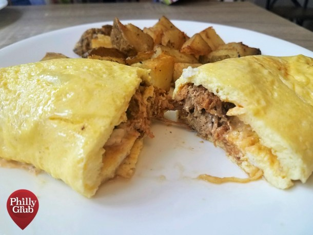 Farmhouse Cherry Hill Pulled Pork Omelette