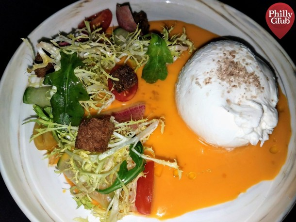 Aqimero Philadelphia Smoked Burrata Salad