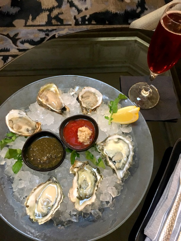 Oysters and Rose at Aqimero