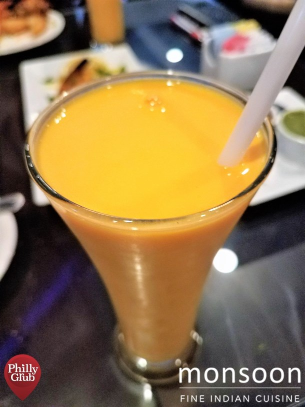 Mango Lassi at Monsoon Cherry Hill