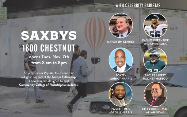 Saxbys 1800 Chestnut Opening