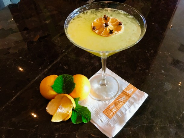 Clementine and Clove Martini at Nectar