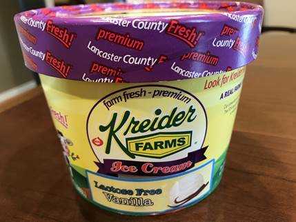 Kreider Farms Lactose Free Ice Cream