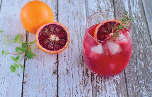 Blood Orange Elderflower Cocktail