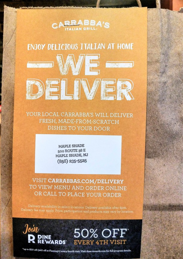 Carrabba's Italian Grill Delivery in Philadelphia area