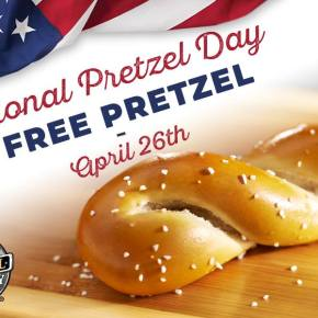 Free Soft Pretzel for Everybody on National Pretzel Day at Philly Pretzel Factory Locations