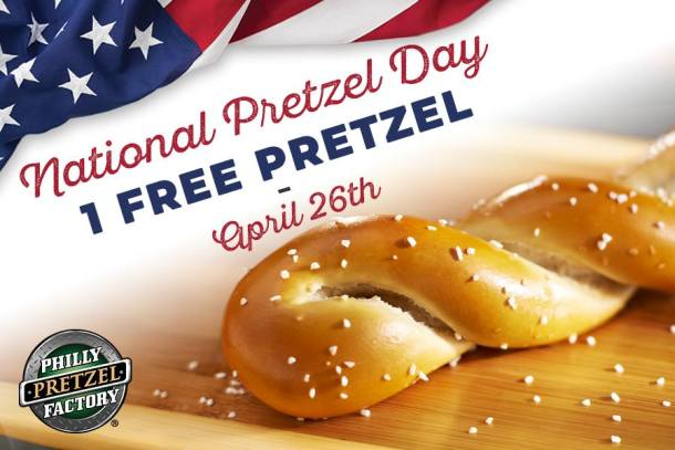 National Pretzel Day Philly Pretzel Factory Free Pretzel