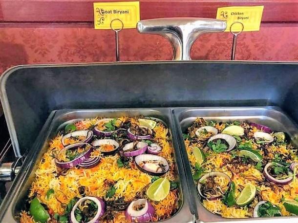 Biryani Dishes at Mirchi Indian Cuisine in Mount Laurel