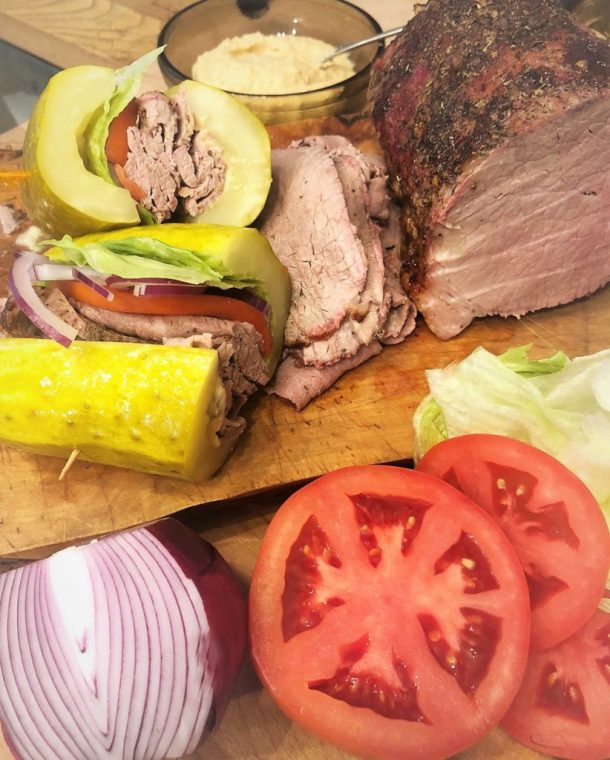 Roast Beef Pickle Sandwich by Elsie's