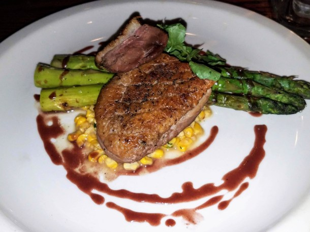 Seared Duck Breast at Chris' Jazz Cafe in Philadelphia