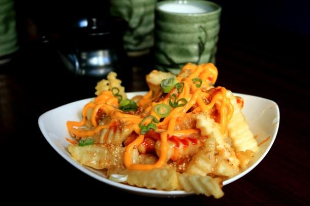 Kimchee Fries at Bleu Sushi