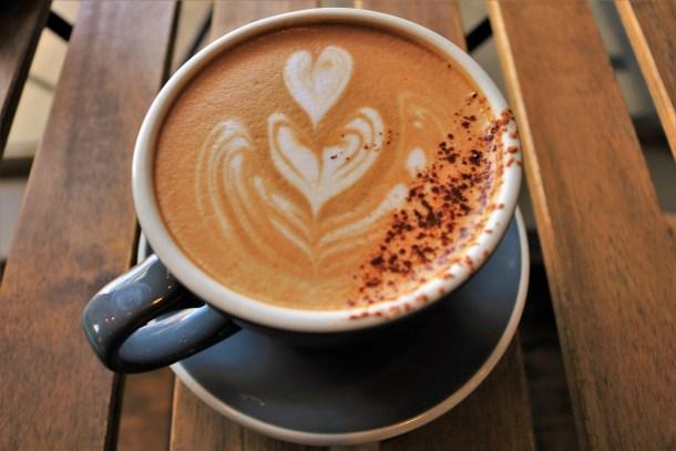 Mocha Latte Closeup at Pilgrim Roasters Manayunk