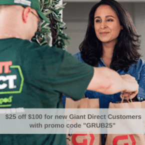 """PROMO! $25 off $100+ New GIANT Customers with code """"GRUB25"""""""