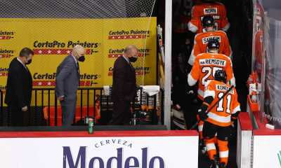 Flyers coaches bench