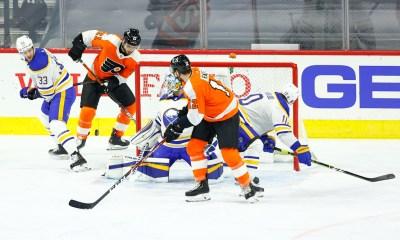 Flyers Sabres Laughton Raffl