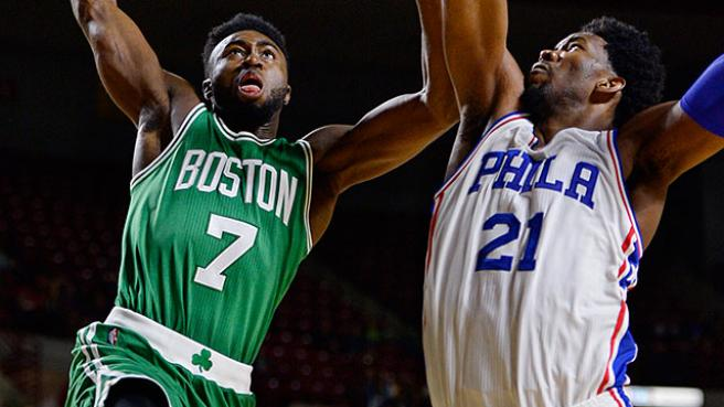 Image result for joel embiid vs celtics