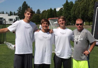 HAVERFORD SCHOOL CONNECTION - Noah Lejman, Grant Ament, Drew Suoinski, Coach Nostrant