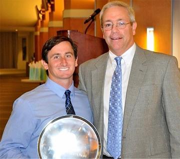 Offensive MVP Joey Sankey and UNC coach Joe Breschi