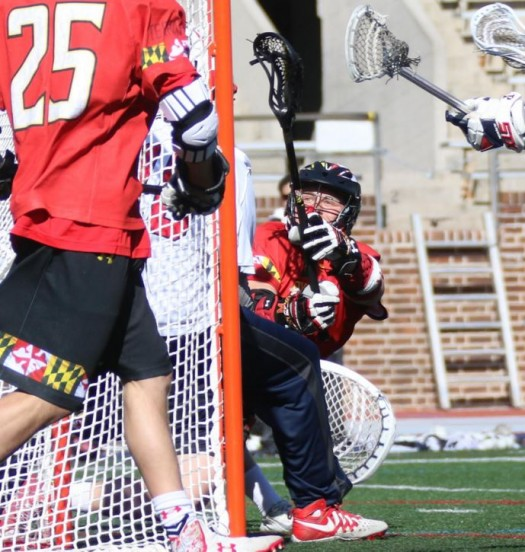 Matt Rambo comes around the came for a driving goal (Photos by Rene Schleicher)