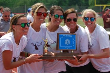 Allegra Gerhardt, Coach of the Year Lisa Orcutt, Jaclyn Klunder, Sam Murphy, Meaghan McDugall