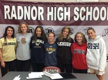 Grace Gallagher, Grace Colorado; Allison Lanzone, Brown; Alexa Solomon, George Washington; Hope Smith, La Salle; Julianne Puckette, Lehigh; Natalie Junior, Davidson; Nicole Massimino, Notre Dame;