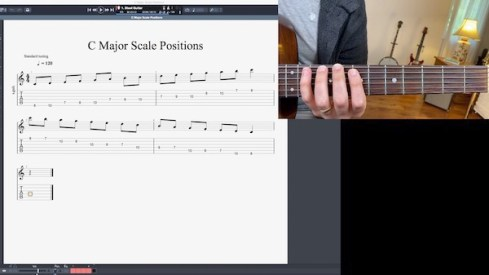 Screen sharing options during and online music lesson