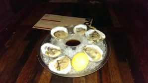 Oysters on the half shell, a great treat!