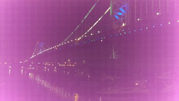 The beautiful Ben Franklin at night