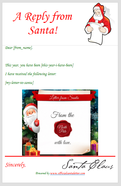 How to send a letter to santa poemsrom send a free santa letter ecards for xmas and an automated response those who to spiritdancerdesigns Image collections