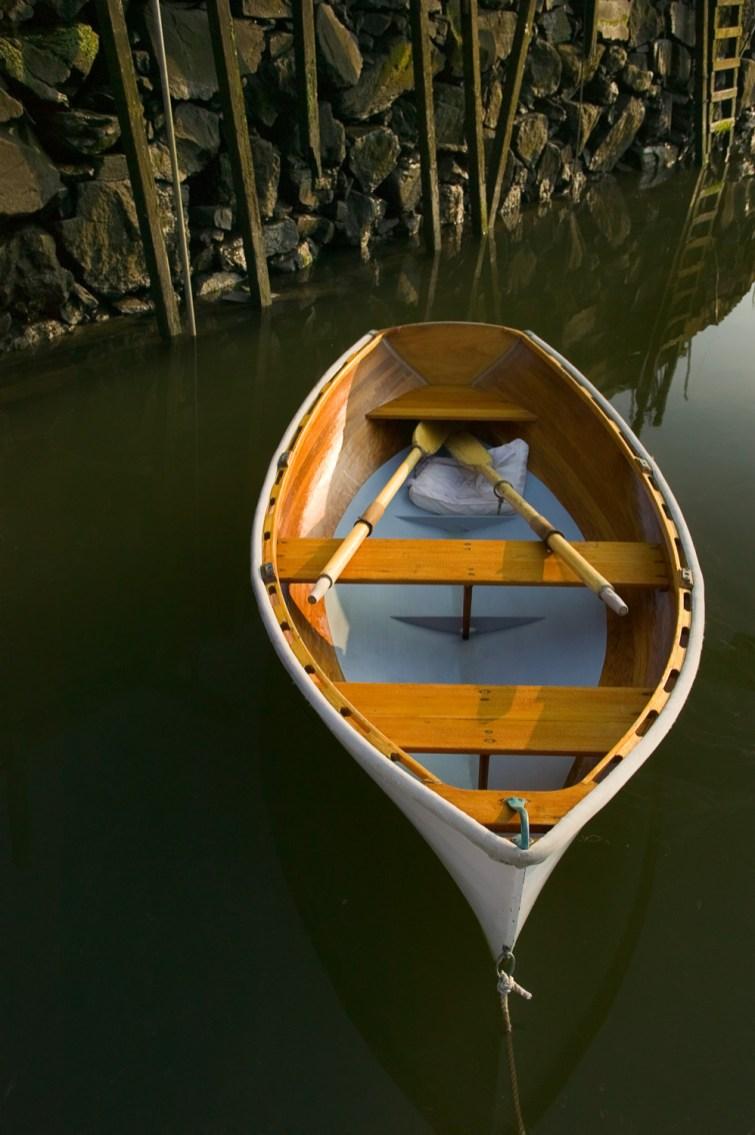 Rowboat under Seawall