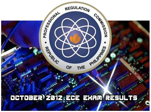2012 PRC Board Results for Electronics Engineers