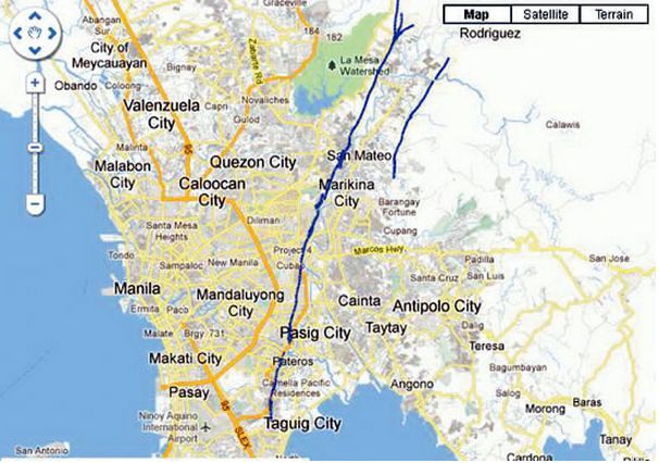 DepEd Revised List Of Schools Near The West Valley Fault Line - West coast fault lines