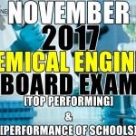 November 2017 Chemical Engineer Board Exam Top Performing & Performance of Schools