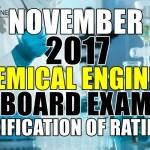 November 2017 Chemical Engineer Board Exam Verification of Ratings
