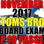 Top 10 Passers: November 2017 Customs Broker Board Exam