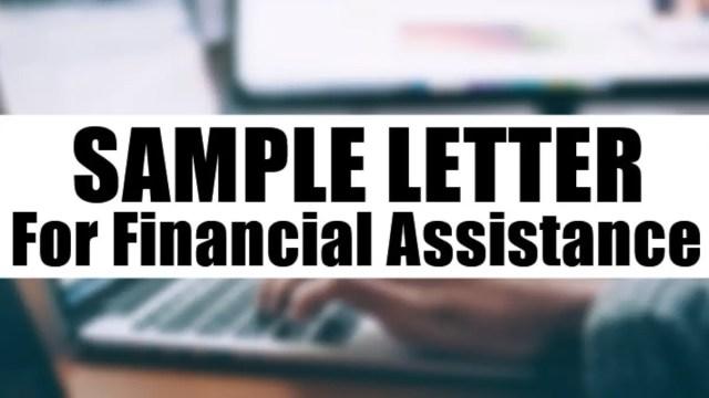 Sample Letter For Financial Assistance