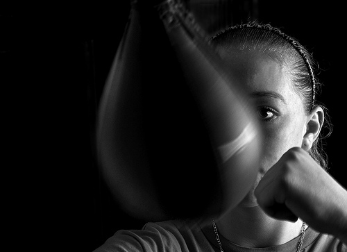 How do you release anger? Some people find having a safe target to be helpful, in this case, a speed bag. Would it help you?
