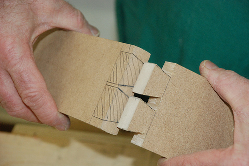 Time to try your first dovetail joint. Go as far as you can, and find out if it is too far or not.
