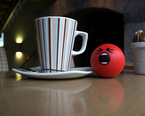 Is AngryBall really angry, or just upset that it can't finish the first cup of coffee?