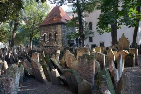 Old Jewish Cemetery in Josefov, Prague