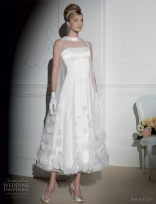 wedding-dress--bridal-collection-retro-funnel-neck-gown