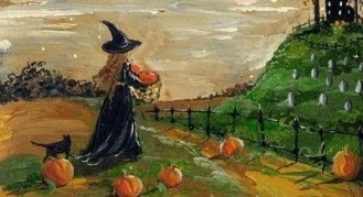 Halloween Painting - Witch