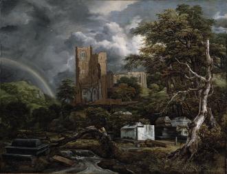 The jewish cemetery, di Jacob Isaaksz Ruisdael.
