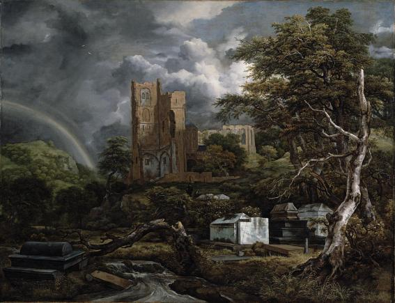 The jewish cemetery, di Jacob Isaaksz Ruisdael.