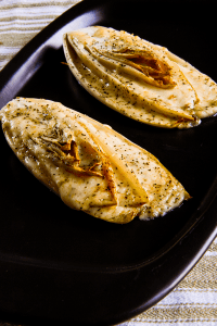 stuffed belgian endive with aged smoked mozzarella