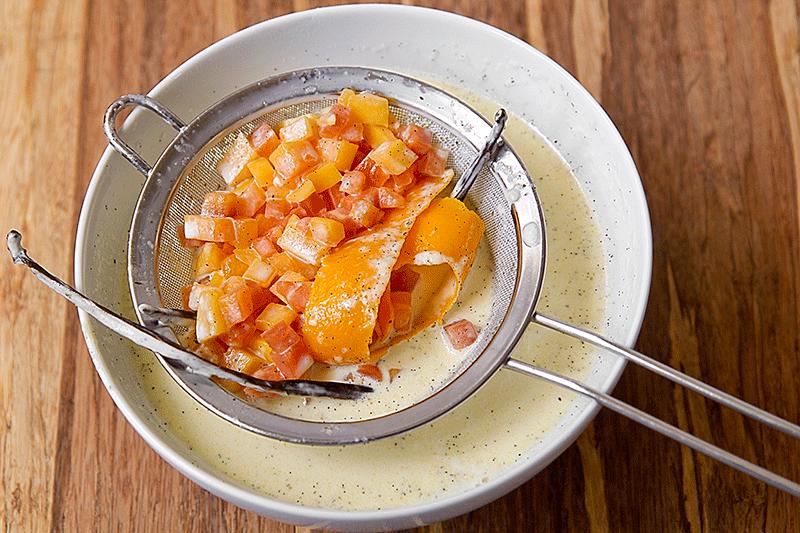 orange and papaya creme brulee