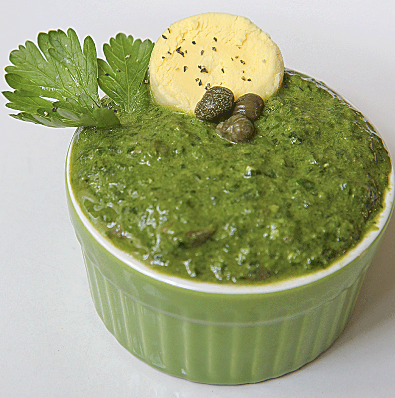WASABI GREEN SAUCE with parsley and soy sauce