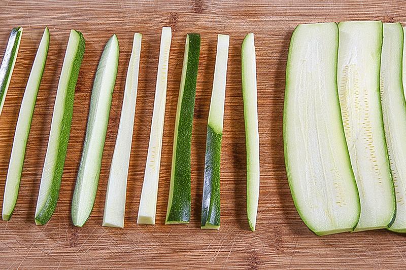 julienne zucchini