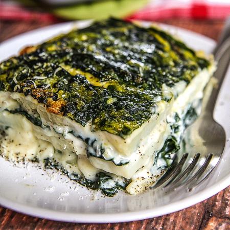 vegetarian pie with lacinato kale