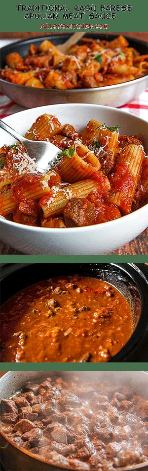 ragù barese - apulian meat sauce